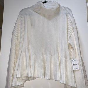 NWT Free People cream Layer Cake Small sweater